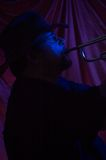 μουσικός μπλε Στοκ Εικόνες