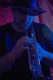 μουσικός μπλε στοκ φωτογραφία