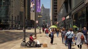 Μουσικός οδών στο Σικάγο στη Michigan Avenue - το ΣΙΚΑΓΟ ΗΝΩΜΕΝΕΣ ΠΟΛΙΤΕΊΕΣ - 11 ΙΟΥΝΊΟΥ 2019 φιλμ μικρού μήκους