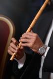 Μουσικός που αποδίδει με αραβικό Ney Στοκ Εικόνες