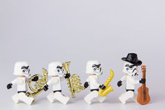 Μουσικός πολέμων των άστρων Lego Στοκ εικόνες με δικαίωμα ελεύθερης χρήσης
