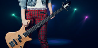 Μουσικός στη σκηνή Στοκ Φωτογραφία