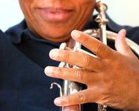 Μουσικός τζαζ αφροαμερικάνων Στοκ φωτογραφία με δικαίωμα ελεύθερης χρήσης