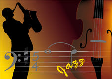 μουσικός τζαζ διανυσματική απεικόνιση