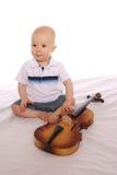 μουσικός δύο μωρών Στοκ Φωτογραφία
