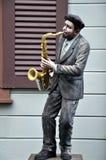 Μουσικό άγαλμα στη σοκολάτα Ville στη Μπανγκόκ Στοκ φωτογραφία με δικαίωμα ελεύθερης χρήσης