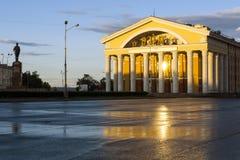 Μουσικό θέατρο το βράδυ Στοκ φωτογραφία με δικαίωμα ελεύθερης χρήσης