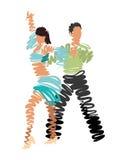 μουσικό διάνυσμα απεικόνισης χορού ζευγών Στοκ εικόνες με δικαίωμα ελεύθερης χρήσης