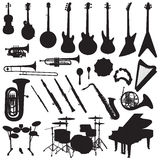 Μουσικό διάνυσμα οργάνων ελεύθερη απεικόνιση δικαιώματος