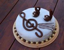 Μουσικό κέικ γενεθλίων Στοκ Φωτογραφία