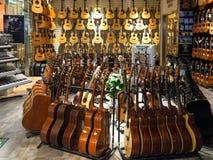 Μουσικό κατάστημα οργάνων Στοκ Φωτογραφία