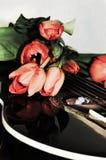 Μουσικό μήνυμα αγάπης, σύμβολα Στοκ εικόνα με δικαίωμα ελεύθερης χρήσης