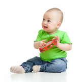 μουσικό παιχνίδι παιχνιδιού μωρών Στοκ Φωτογραφίες