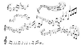 μουσικό παιχνίδι σημειώσεων οργάνων επιχορήγησης Στοκ Εικόνα