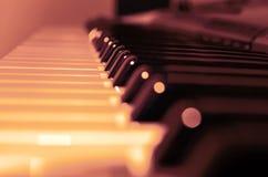 Μουσικό πιάνο οργάνων Στοκ Φωτογραφίες
