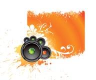 μουσικό πορτοκάλι εμβλημάτων Στοκ φωτογραφίες με δικαίωμα ελεύθερης χρήσης