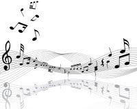 μουσικό προσωπικό σημειώσεων Στοκ Εικόνες