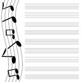 Μουσικό σχέδιο Στοκ Εικόνα