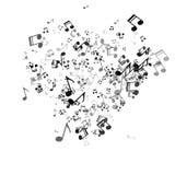 Μουσικό υπόβαθρο με τις καρδιές για το σχέδιο ημέρας βαλεντίνων ` s Στοκ Φωτογραφίες