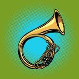 Μουσικό όργανο κέρατων Tuba γαλλικό helicon ελεύθερη απεικόνιση δικαιώματος