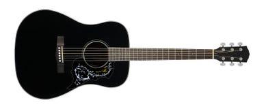 Μουσικό όργανο - μαύρο ακουστικό πουλί π λουλουδιών χωρών κιθάρων Στοκ φωτογραφίες με δικαίωμα ελεύθερης χρήσης