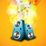 Μουσικό όργανο με τις μουσικές νότες ελεύθερη απεικόνιση δικαιώματος