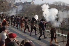 Μουσκετοφόροι Carnaval Escalade Στοκ φωτογραφία με δικαίωμα ελεύθερης χρήσης