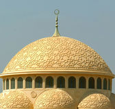 μουσουλμανικό τέμενος θόλων Στοκ Εικόνες