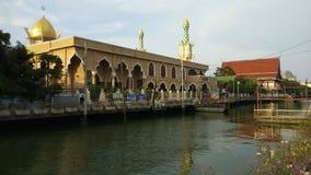 Μουσουλμανικό τέμενος Ισλάμ Ridwanool στη Μπανγκόκ, Ταϊλάνδη απόθεμα βίντεο