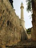 Μουσουλμανικό τέμενος και η παλαιά πόλη Pocitelj Στοκ Εικόνες