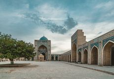 Μουσουλμανικό τέμενος και μιναρές POI Kalon στη Μπουχάρα, Ουζμπεκιστάν στοκ φωτογραφία
