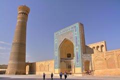 Μουσουλμανικό τέμενος και μιναρές POI Kalon στη Μπουχάρα στοκ εικόνα