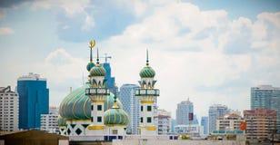 μουσουλμανικό τέμενος μητροπόλεων Στοκ Εικόνες