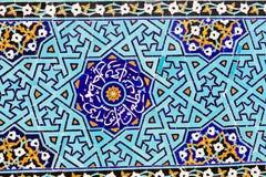 Μουσουλμανικό τέμενος σε Yazd, Ιράν, μπλε arabesque Στοκ φωτογραφία με δικαίωμα ελεύθερης χρήσης
