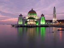 Μουσουλμανικό τέμενος στενών Melaka στοκ φωτογραφία με δικαίωμα ελεύθερης χρήσης
