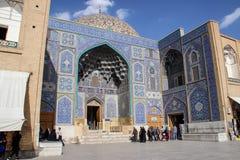 Μουσουλμανικό τέμενος στο μπλε του Ισφαχάν Παραδοσιακές διακοσμήσεις και διακοσμήσεις Ιράν στοκ εικόνες