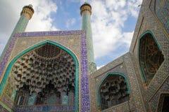 Μουσουλμανικό τέμενος στο μπλε του Ισφαχάν Παραδοσιακές διακοσμήσεις και διακοσμήσεις Ιράν στοκ φωτογραφίες