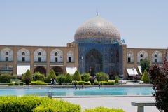 Μουσουλμανικό τέμενος στο τετράγωνο naghsh-ι Jahan στοκ εικόνα