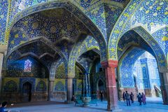 Μουσουλμανικό τέμενος 21 του Ισφαχάν Shah στοκ εικόνες
