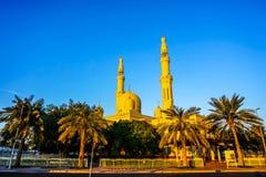Μουσουλμανικό τέμενος του Ντουμπάι Jumeirah στοκ εικόνες