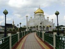Μουσουλμανικό τέμενος του Ομάρ Ali Saifudding σουλτάνων, Bandar Seri Begawan, Μπρουνέι στοκ εικόνες