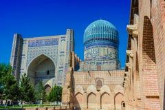 Μουσουλμανικό τέμενος bibi-Khanym στο Σάμαρκαντ, Ουζμπεκιστάν στοκ φωτογραφία με δικαίωμα ελεύθερης χρήσης