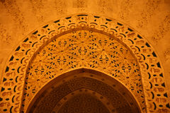Μουσουλμανικό τέμενος Hassan ΙΙ στοκ εικόνα