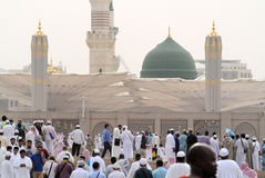 Μουσουλμανικό τέμενος Prophet's σε Medina Σαουδική Αραβία Στοκ εικόνες με δικαίωμα ελεύθερης χρήσης