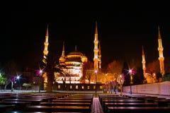 Μουσουλμανικό τέμενος Sutlanahmet τη νύχτα Στοκ Εικόνες