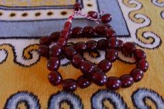 Μουσουλμανικές κόκκινες χάντρες Στοκ φωτογραφία με δικαίωμα ελεύθερης χρήσης