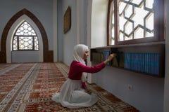 μουσουλμανική ανάγνωση ko Στοκ φωτογραφία με δικαίωμα ελεύθερης χρήσης