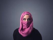 Μουσουλμανική γυναίκα που φορά Niqab Στοκ φωτογραφίες με δικαίωμα ελεύθερης χρήσης