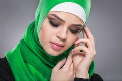 Μουσουλμανική γυναίκα στο hijab Στοκ φωτογραφίες με δικαίωμα ελεύθερης χρήσης