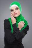 Μουσουλμανική γυναίκα στο hijab Στοκ Εικόνα